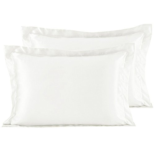 YANIBEST Satin Silk Pillowcase Covers For Facial Beauty Hair and Health Care with Envelope Closu ...