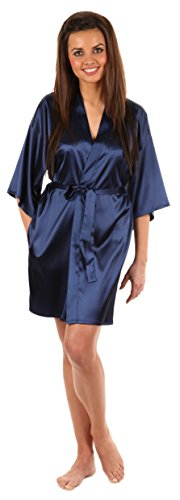 VEAMI Women's Kimono Robe-Galaxy Blue-X-Large, Short