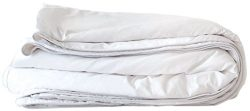 Mulberry West Premium Luxury Silk-Filled Polished Cotton Comforter, Twin X-Long