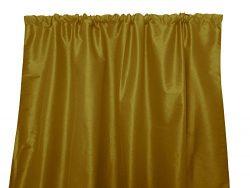 Zen Creative Designs Solid Faux Silk Dupioni Curtain Panel / Home Window Decor / Window Treatmen ...