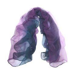 TONY&CANDICE(TM) 100% Silk Extra Long Oblong Silk Scarf,65″L*41″W (Colur 1)