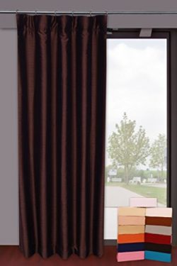 Dupioni Faux Silk Curtains from Zappy Cart with 100% Blackout Lining, Each 51″ (130 cm) Wi ...