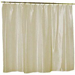Waterproof Nylon – Soft as Silk – Mildew Resistant Fabric Shower Curtain Liner, 108  ...