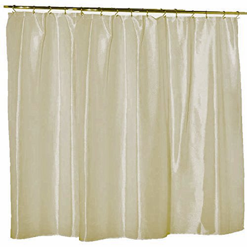 Waterproof Nylon Soft As Silk Mildew Resistant Fabric Shower Curtain Liner 108 Inch Extra