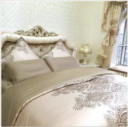 Adream Faux Silk/Cotton Double Bedding Set Duvet Cover Set Reactive Printing Quilt Cover, Queen  ...