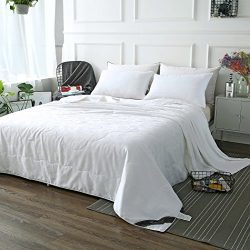 ZIMASILK Mulberry Silk Comforter with Cotton Covered Filled by 100% Long Grade Mulberry Silk,Sil ...