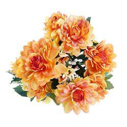Soledi Artificial Silk Fake 10 Heads Flower Bunch Bouquet Floral Decor European Chrysanthemum (O ...