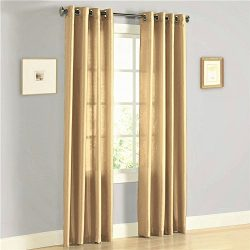 Gorgeous Home (MIRA)2 PANELS SOLID GROMMET FAUX SILK WINDOW CURTAIN DRAPES TREATMENT IN 63&#8243 ...