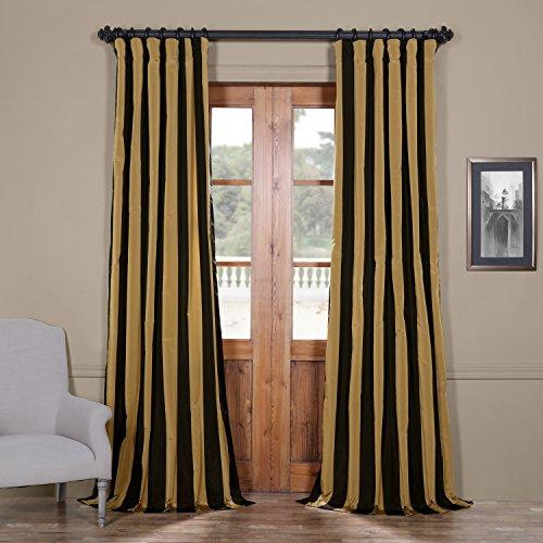 Half Price Drapes PTSCH-11083-84 Faux Silk Taffeta Stripe