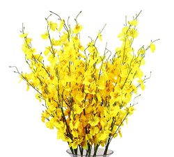 TYEERDEC Artificial Flowers 12 Pieces Artificial Dancing Lady Orchid Oncidium Silk Orchid for We ...