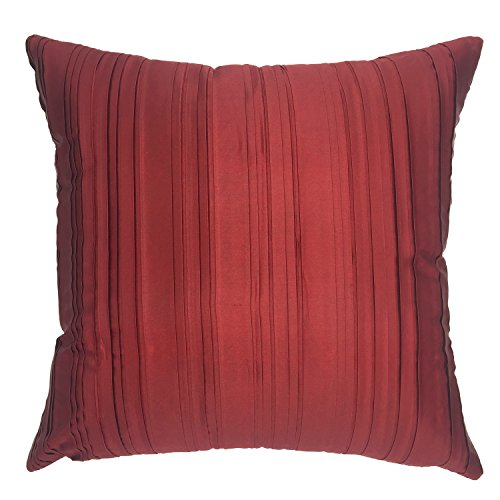 Throw Pillow Covers 18 Inches : YOUR SMILE Solid Color Silk Throw Pillow Cases Decorative Cushion Cover 18x18 Inches (Dark red ...