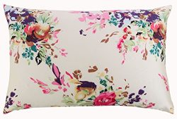 SLPBABY Silk Pillowcase for Hair and Skin with Hidden Zipper Print (Queen, Pattern5)