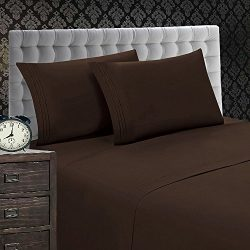 Elegant Comfort 1500 Thread Count Luxury Egyptian Quality Wrinkle and Fade Resistant 4-Piece She ...