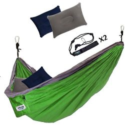 Double Camping Hammock by Unlimited Camp: 3 Seam Nylon Portable Lightweight Bedding for Camping, ...