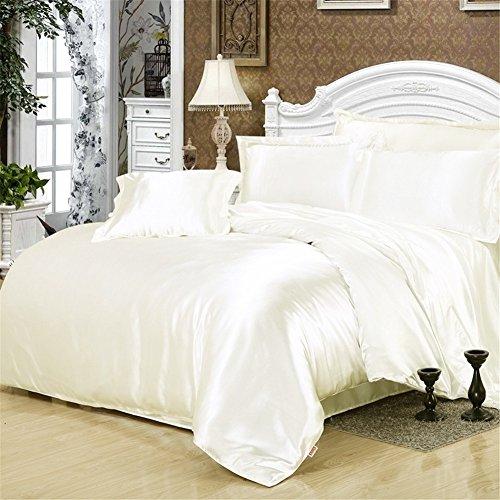 Simonshop 4pcs Super Soft Bedding Set King Queen Size Silk Comforter Bedclothes Duvet Cover Set  ...