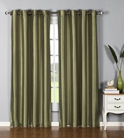 Window Elements Jane Faux Silk Grommet Extra Wide 54 x 95 in. Curtain Panel, Sage