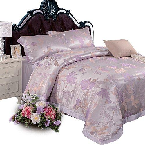 Orifashion Lilac 22 Momme Silk Yarn Dyed Jacquard Bedding