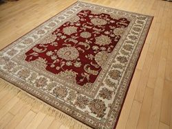Luxury Silk Red Red Rugs for Living Room 5 X7 High End Red Rugs for Bedroom 5×8 Area Rug Re ...
