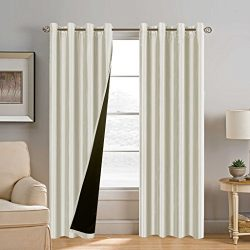 H.Versailtex 100% Blackout (2 Layers) Curtains, Luxury and Elegant Extra Long Lined Curtains, Fa ...