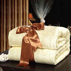Royals Eco-friendly Handmade Pure Mulberry Silk Filled Comforter Quilt Duvet Blanket Coverlet Be ...