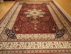 Luxury Red Silk Rugs Traditional Area Rug 2×4 Small Rugs for Bedroom Door Mats Indoor 2 ...