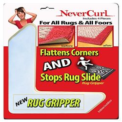Rug Gripper with NeverCurl (8 Pack) – Instantly Flattens Rug Corners AND Stops Rug Slippin ...