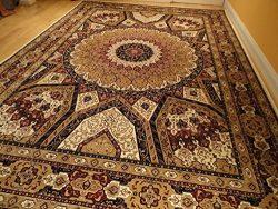 Silk Persian Qum Area Rugs 5×8 Beige Rug Living Room Rugs Luxury Rugs Ivory Carpet 5×7 ...