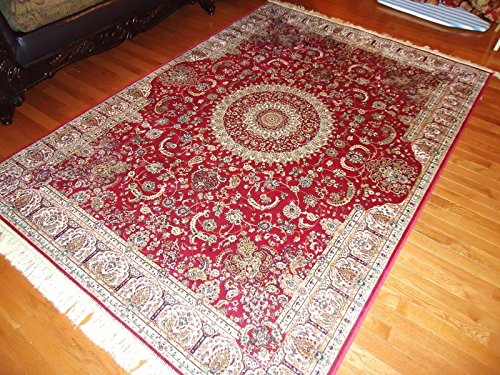 Stunning silk persian area rugs red door mats indoor foyer for Entrance foyer rugs