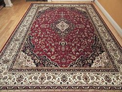 Silk Rug Red Persian Area Rug Traditional Silk Rugs Living Room Accent Rug 5×7 Rug Soft Sil ...