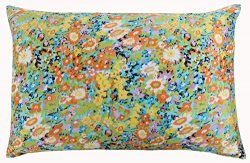 Silk Pillowcase for Hair and Skin with Hidden Zipper Chinese Pastel Water Colors Print Standard/ ...