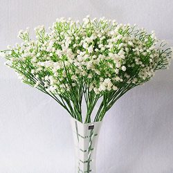 YSBER 10Pcs Baby Breath/Gypsophila Artificial Fake Silk Plants Wedding Party Decoration Real Tou ...