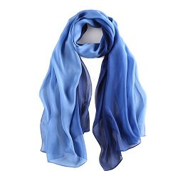 Silk Scarfs for women,Lightweight and Fashion Ladies Shawls and Wraps 70,8″ x 27,5″  ...