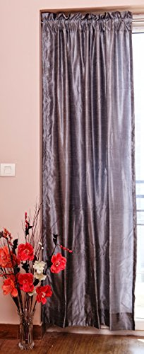 Pure Silk Curtains, 40″ (101 cm) Wide X 96″ (244 cm) Long, Backed with Thick Satin L ...