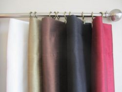 Urbanest Pair of 2 Faux Silk Drapery Curtain Panels with Lining(two Panels), 5 Colors, 3 Sizes ( ...