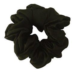 Maxfeel 100% Pure Muberry Silk Hair Scrunchie Multicolor (black)