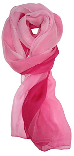 Ted and Jack – Silk Ombre Lightweight Accent Scarf (Pink Ombre)