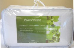 Natural Comfort Ultra Deluxe 100-Percent Natural Mulberry Silk Filled Dobby White Comforter for  ...