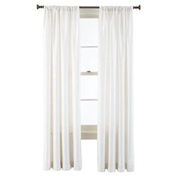 GorgeousHome (MR2) New Window Collection 1pc Panel Curtain Faux Silk Rod Pocket Semisheer Treatm ...