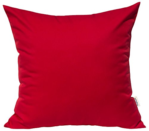 TangDepot Durable Faux Silk Solid Pillow Shams, Square Decorative Pillow Covers, Throw Pillow ...