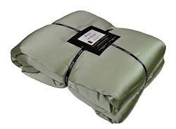 Natural Comfort Imperial Throw with Silk Filling Inside and Out, Sage