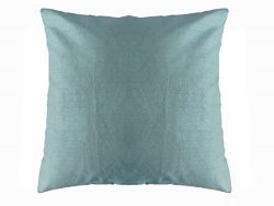 Saffron 20×20″ Plain Decorative Faux Silk Pillow Case Cushion Cover (20″, Aero  ...