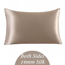 ZIMASILK 100% Mulberry Silk Pillowcase for Hair and Skin Health,Both side 19 Momme Silk, Gift Pa ...