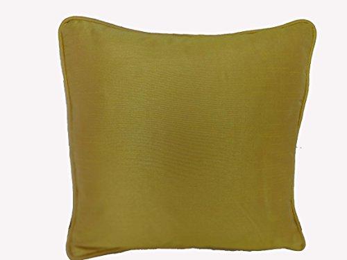 Saffron Beige Faux Silk Cushion Cover Solid Pillow Case Throw Small 12X12