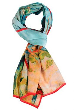 Salutto Women 100% Silk Scarves Paul Gauguin Washerwomen at Pont Aven Painted Scarf (5)
