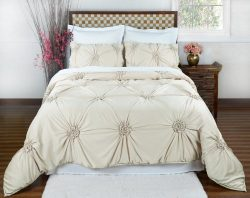 Empress Silk Fiona Comforter Set – Queen – Pearl