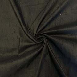 100% Pure Silk Dupioni Fabric 54″ Wide BTY Drape Blouse Dress Craft (Black)