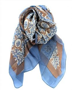 Z&HTrends Womens Genuine Silk Scarf (Small, Morocco Earth)