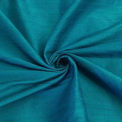 100% Pure Silk Dupioni Fabric 54″ Wide BTY Drape Blouse Dress Craft (Turquoise)