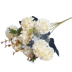 1 Bunch European Artificial Flower Fake 10 Heads Hydrangea Bouquet Wedding Arrangement Christmas ...
