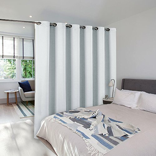 Room dividers curtains screens partitions nicetown room for Curtain partition living room